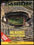 1994 Green Bay Packers vs Atlanta Falcons Milwaukee County Stadium Game Day Program