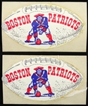1960s Boston Patriots Football Decals
