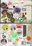 1930's-2000's Boxing Pinback buttons Medallions, and Ribbons (46 items)