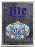 "16"" x 21"" Lite Beer Salutes Super Bowl XXVII Mirror"