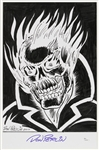 1979-1981 Don Perlin Ghost Rider Signed 11x17 Print (JSA)