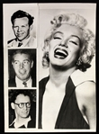 "1960 ""The Many Loves of Marilyn Monroe"" Composite Photo of Marilyn Monroe and Her Husbands"