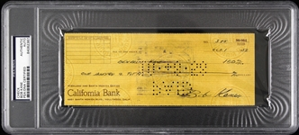 1958 Bob Kane Batman Creator Signed Cancelled Check (PSA/DNA Certified) 1:1