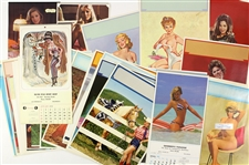 1950s-1980s Pin-Up Girl Photos and Calendars (Lot of 50+)