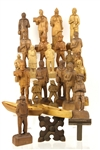 1940s-1950s R.A. Struck Carved Wooden Figure Collection (25)