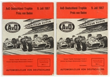 1967 Germany Grand Prix Race Programs (Lot of 2)