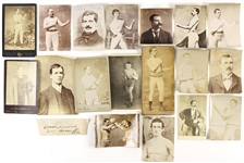 1850s-1880s Boxing Photos & Cabinet Cards  (Lot of 19)