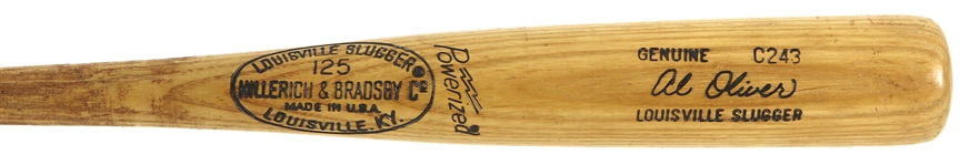 1978-79 Al Oliver Texas Rangers H&B Louisville Slugger Professional Model Game Used Bat (MEARS LOA)