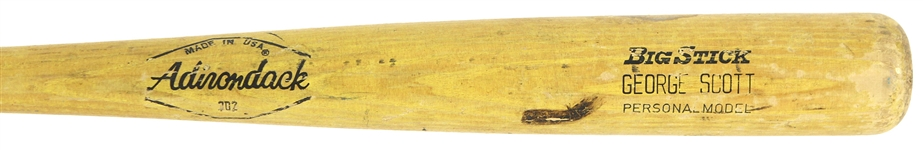 1972-76 George Scott Milwaukee Brewers Adirondack Professional Model Game Used Bat (MEARS LOA)