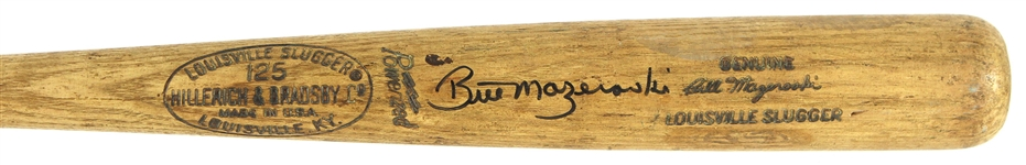 1971 Bill Mazeroski Pittsburgh Pirates Signed H&B Louisville Slugger Professional Model Game Used Bat (MEARS A10/JSA & PSA/DNA GU 10)