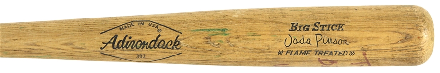 1970-73 Vada Pinson Indians/Angels Signed Adirondack Professional Model Game Used Bat (MEARS LOA/JSA)