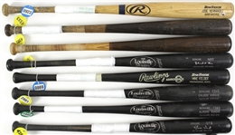 1977-2010 Professional Model Game Used Bat Collection - Lot of 8 w/ Sixto Lezcano, Jeffrey Leonard, Dickie Thon, Jose Hernandez & More (MEARS LOA)