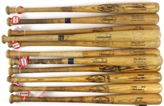 1961-79 Professional Model Game Used Bat Collection - Lot of 11 w/ Wayne Causey, Rich Reese, Jerry Moses, Garry Templeton & More (MEARS LOA)