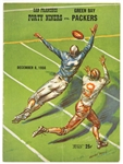 1956 San Francisco 49ers vs Green Bay Packers Program