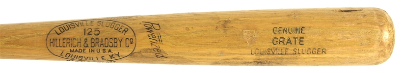 1950-57 Don Grate Minor Leagues H&B Louisville Slugger Professional Model Game Used Bat (MEARS LOA)