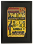 "1950s Havana La Palomas Negro League Winter League Stars 23""x 31"" Framed Broadside"