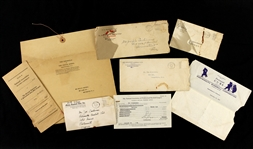 1933- Joe Dickinson Milwaukee Braves/Minor Leagues Document Collection - Lot of 6 w/ Contracts, Correspondence & Release Notice (MEARS LOA