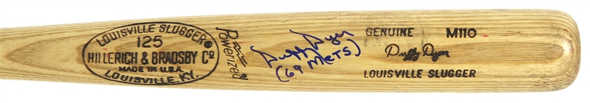 "1977-79 Duffy Dyer Pirates/Expos Signed & Inscribed ""69 Mets"" H&B Louisville Slugger Professional Model Game Used Bat (MEARS LOA/JSA)"