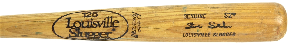 1980-82 Steve Swisher Cardinals/Padres Louisville Slugger Professional Model Game Used Bat (MEARS LOA)