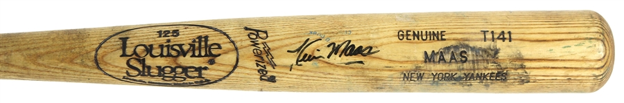 1991-93 Kevin Maas New York Yankees Signed Louisville Slugger Professional Model Game Used Bat (MEARS LOA/JSA)