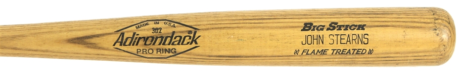 1980-82 John Stearns New York Mets Adirondack Professional Model Game Used Bat (MEARS LOA)