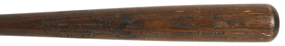 1976 Willie Randolph New York Yankees H&B Louisville Slugger Professional Model Game Used Bat (MEARS LOA)