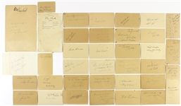 1940s-1960s Signed Postcards, Index Cards, and Photo Cards Including Andy Pafko, Bob Elliott, Ron Northey, and more (Lot of 75+)(JSA)