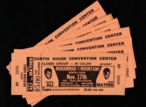 1971 Muhammad Ali vs. Buster Mathis Closed Circuit Tickets (Lot of 10)