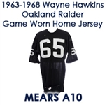 1963-68 Wayne Hawkins Oakland Raiders Signed Game Worn Home Jersey (MEARS A10/*JSA*)