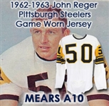 1962-63 John Reger Pittsburgh Steelers Game Worn Road Jersey (MEARS A10/Steelers COA)
