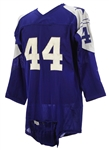 1950s-60s Blue Durene #44 Game Worn Football Jersey (MEARS LOA)
