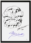 1976  Joe Sinnott The Thing Fantastic Four Pencil Sketch Signed 11x17 B&W Print (JSA)