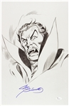1980s Joe Sinnott Dracula Pencil Commission Sketch Signed 11x17 Print (JSA)