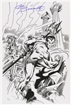 1980s Joe Sinnott Submariner Pencil Sketch Signed 11x17 Print (JSA)