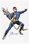 1980s Joe Sinnott Nick Fury Full Color Sketch Signed 11x17 Print (JSA)