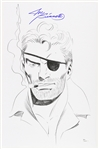 1980s Joe Sinnott Nick Fury W/ Cigar & Jacket Pencil Sketch Signed 11x17 Print (JSA)