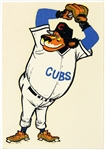 "1950s Chicago Cubs 3""x 4 1/4"" Decal"