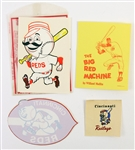 1950s Cincinnati Reds Stickers and Decals (Lot of 4)