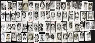 1940s-1990s St Petersburg Times, Sporting News, and Boston Herald Archived Baseball and Football Photos (Lot of 175)