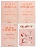 "1930s-1960s ""Take Me Out To The Ball Game"" & ""The Ball Game Isnt Over Til The Last Man Is Out"" Sheet Music (Lot of 4)"