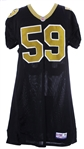 1997 Keith Mitchell New Orleans Saints Game Worn Home Jersey (MEARS LOA)