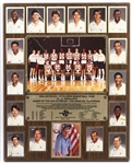 "1984 United States Olympic Basketball Team Gold Medalists 16""x 20"" Plaque Featuring Michael Jordan (EX Bobby Knight Collection)"