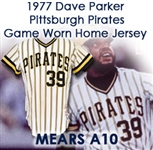 1977 Dave Parker Pittsburgh Pirates Signed Game Worn Home Jersey (MEARS A10/JSA)