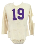 1949-51 Bill Earley Washington Huskies Game Worn Football Jersey (MEARS LOA)