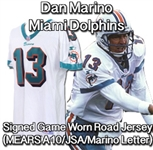 1997 (October 19) Dan Marino Miami Dolphins Signed Game Worn Road Jersey (MEARS A10/JSA/Marino Letter)