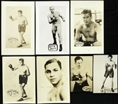 1920s-1930s Everlast Photo Premiums Including Dempsey, Tunney, Jeffries and more (Lot of 13)