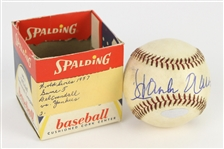 "1957 (October 7th, Game 5) Milwaukee Braves vs. New York Yankees County Stadium Game Used World Series Baseball (MEARS LOA/Steiner Hologram) ""Signed by Hank Aaron"""