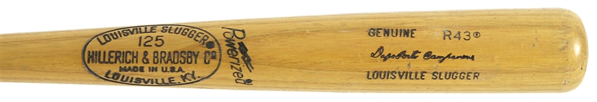 1977-79 Bert Campaneris Rangers/Angels H&B Louisville Slugger Professional Model Bat w/ Cork Grip Handle (MEARS LOA)