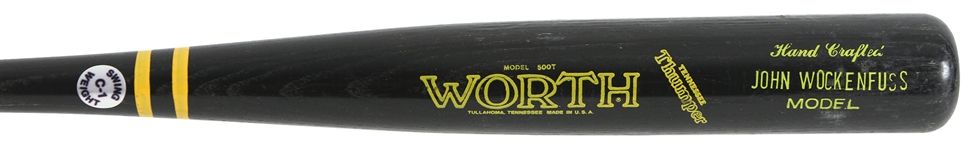 1983/85 John Wockenfuss Tigers/Phillies Worth Professional Model Game Used Bat (MEARS LOA)
