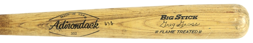1977-78 Greg Gross Chicago Cubs Adirondack Professional Model Game Used Bat (MEARS LOA)